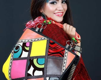 Beautiful Handmade bags crate leather and arrow cane full colors and exclusive designs