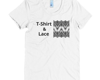 T Shirt and Lace Women's Crew Neck Crew Neck Tee