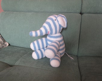 crocheted elephant or plush toy