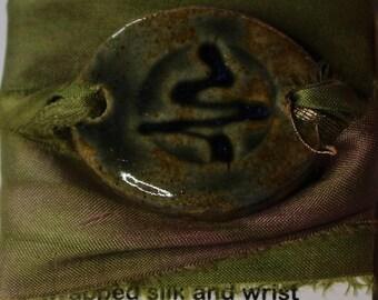 Tree Pottery Wrap Bracelet