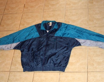 Nike Blue Full Zip Windbreaker Jacket Large Vintage 1990s