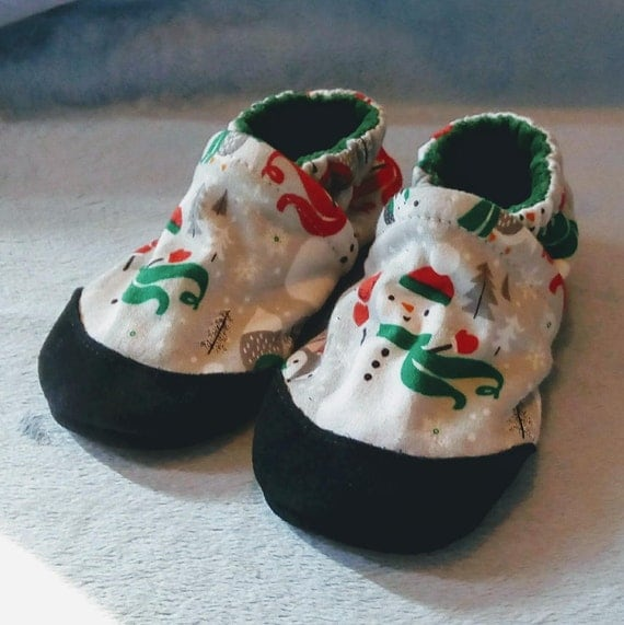 Woodland Snowman: Soft Sole Baby Shoes 18-24M