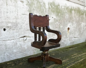 Miniature Desk Chair 12:1 Ratio Vintage