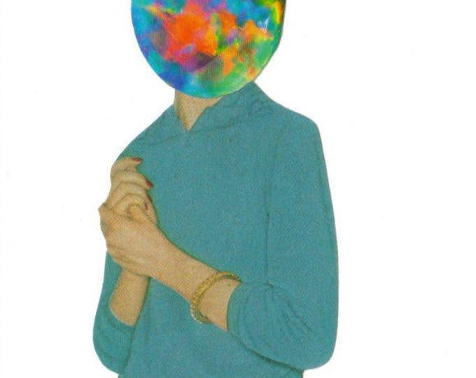 Opal Art Collage, Colorful Gemstone Artwork