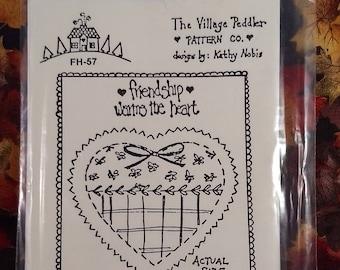 Vintage uncut Friendship pin pattern by The Village Peddler