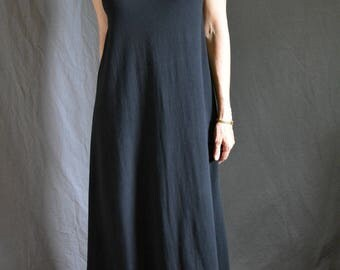 Folded Midi Dress, Tank, Cotton Jersey, Classic Modern- made to order, one of a kind