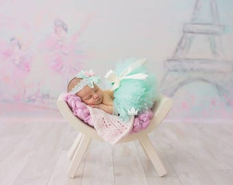 Newborn Tutu   Mint Baby Skirt   Baby Shower Gift