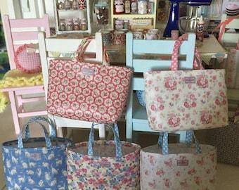 1:6 Scale Miniature Handbags - Cath Kidston Prints - Handmade