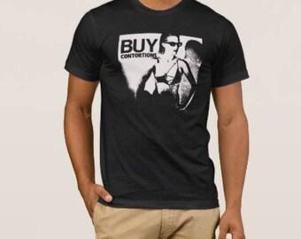 the Contortions    T shirt screen print short sleeve     shirt cotton