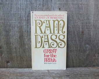 Vintage 1979 Grist for the Mill by Ram Dass Book / Ram Dass Book / Hippie Book