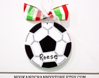 Personalized Soccer Ornament - Kids Christmas Ornaments - Personalized Kids Ornament - Soccer Christmas Ornaments - Soccer Coach Ornament