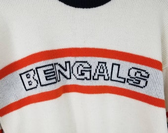 Vintage NFL Cincinnati Bengals Cliff Engle Ltd Sweater