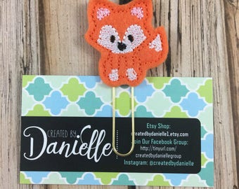 Fox Gift, Woodland Animals Gift, Unique Fox Lover Gift, Journal Gift, Fox Greeting Card Insert, Fox Planner Clip, Fox Bookmark - Pick Color