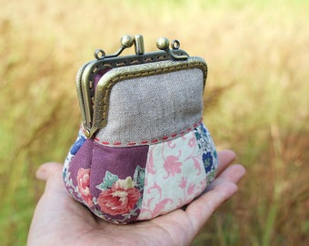 Coin purse two compartment