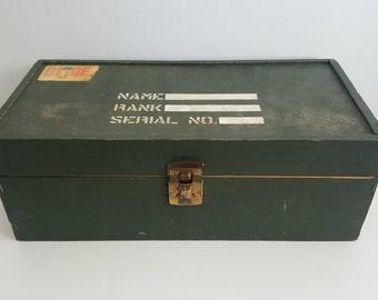Vintage 1960s GI Joe's Footlocker / Name, Rank, Serial Number / Empty Box