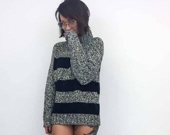 vintage turtleneck striped sweater | large | the Liz Sport sweater