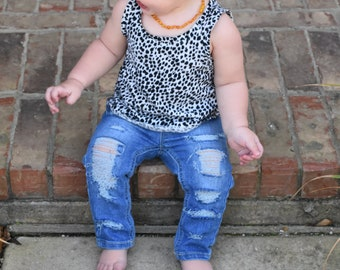 12MO Distressed Jegging