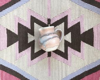 Vintage Ceramic Pitcher // Home Decor // Kitchenware // Stoneware // Pastel // Neutral // Bohemian