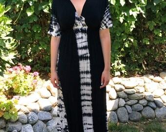 Plus Size Maxi, Plus size Maxi dress, Tie Dye Maxi, Plus Sizes, Hippie Dress,Summer Maxi,Long Dress, Tie Dye, Black/white S, M, L, XL, 2X 3X
