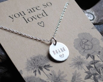You Are So Loved  .  Personalized Name Necklace