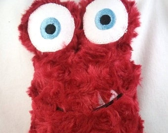 Large Cuddly Love Monster - Plush Monster - Stuffed Monster - Baby-Safe Stuffed Toy - Lovey - Red or Pink Minky Plushie