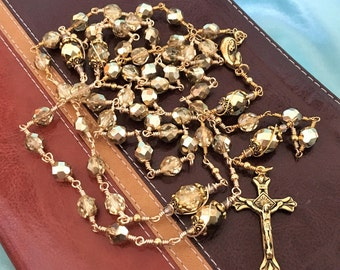 Gold Unbreakable Rosary