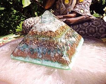 Powerful Orgonite® Orgone Pyramid (Large) - Increase Prosperity - FREE WORLDWIDE SHIPPING!