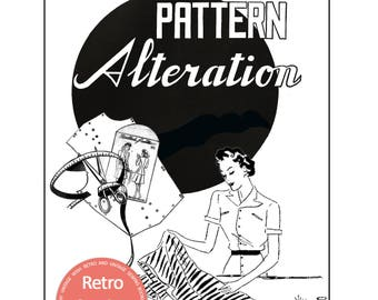 Vintage/Modern Sewing Pattern Alteration Guide - Sewing Book -  PDF  Instant Download