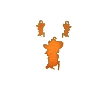 Mississippi Col. Rebel Rusty Metal Pendant/Charm And Earrings 3-Piece Set