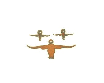 Steer Head Rusty Metal Pendant/Charm And Earrings 3-Piece Set