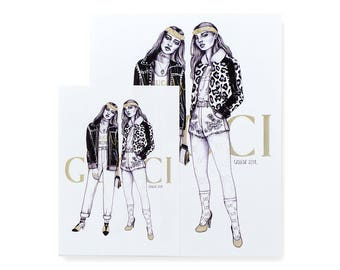 Gucci Cruise 2018 / Art Print / Fashion Illustration / Ink Illustration / Ink Drawing