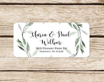 Return Address Label Wedding Stickers Invitation Labels Envelope