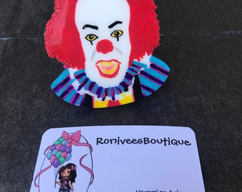 Pennywise The Dancing Clown Brooch, Or Magnet