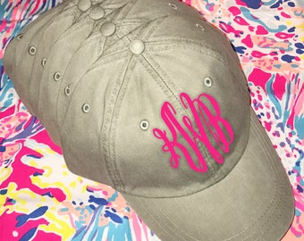 Monogram Ladies Ball Cap, Women's Embroidered Hat, Stone Adams Hat, Monogram Hat, Personalized Ball Cap, Preppy Ball Cap, Gift For Her