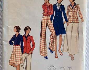 Butterick Pattern 3190 - Misses' Lined Jacket/Blazer, Above knee or Maxi Length Skirt & Palazzo Pants - Size 20 1/2 Bust 43 - UNCUT