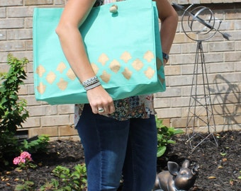 Monogrammed JUMBO SIZED Tote Bag/ Beach Bag / Diaper/ Extra Large Bag!