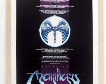 Archangels The Saga 1994 Comic Promotional Poster w/4 Original Negatives