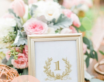 Wedding Table Numbers Gold, Gold Table Numbers, Table Numbers Printable, Gold Table Numbers Cards, Wedding Table Decor, Vintage Gold Numbers