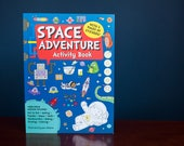 Space Adventure Activity Book - fun children's book with dot-to-dot, wordsearches, baking, making, mazes, colouring, maths and drawing