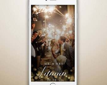 Custom Snapchat Geofilter, Wedding Snapchat Filter