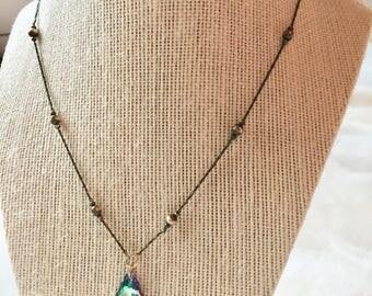 Rainbow Swarovski Crystal Necklace