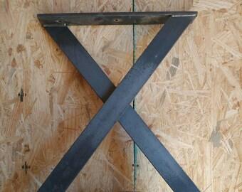 X Shaped Coffee Table Leg