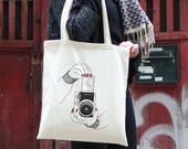 Tote bag pour femme, illustration, cadeau drôle