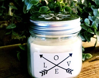 """Personalized Natural Soy Candles """"Love"""""""