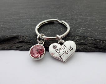 Best Friend Keyring, Friendship Gifts, Heart Keychain, Friend Keychain, Charm Keyring, Friendship Keyring, Best Friend Gift