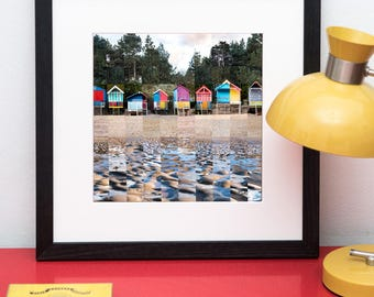 Beach Huts at Wells Next the Sea in Norfolk Print