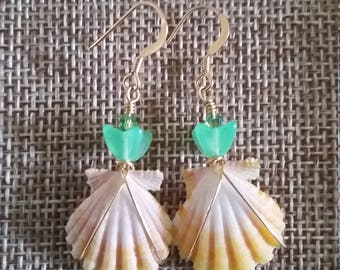 "Sunrise Shell ""Pineapple"" Earrings"