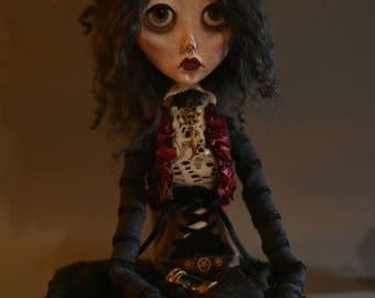 OOAK Art doll CORNELIA, Handmade doll, art doll, victorian doll, gothic doll, sad doll, steampunk doll, sculpted