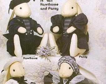 Victorian Bunny Rabbit Dolls & Clothes Sewing Pattern UNCUT Goosberry Hill 137