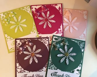 Handmade Thank You Cards 2017-2019 SU In-Colors